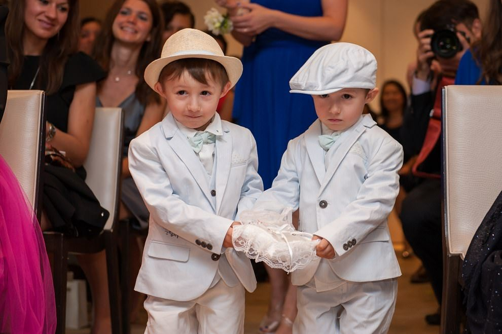 Pageboys Ringbearers at London wedding Richmond