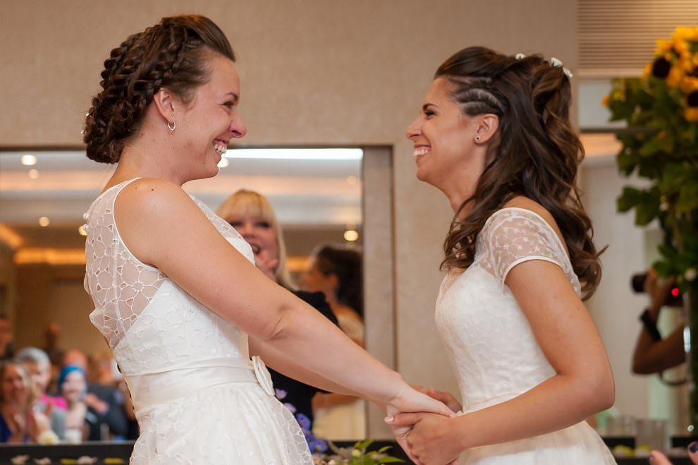 Gay wedding | Two brides Bingham hotel surrey