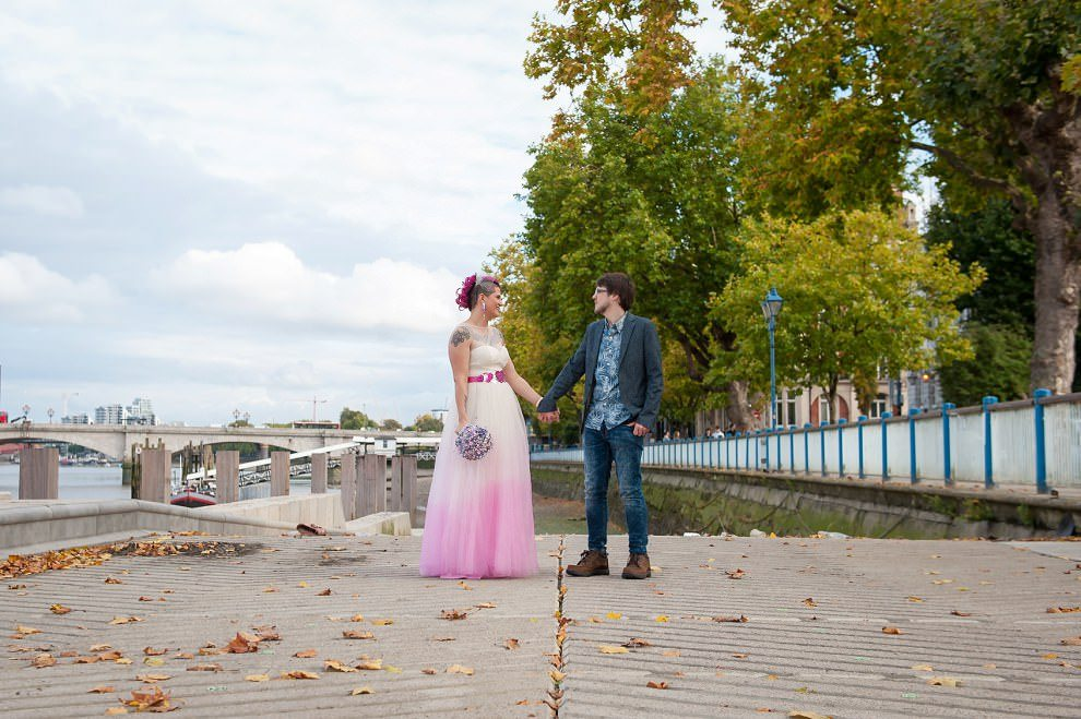 Dukes Head Wedding riverfront | Putney Wedding South London