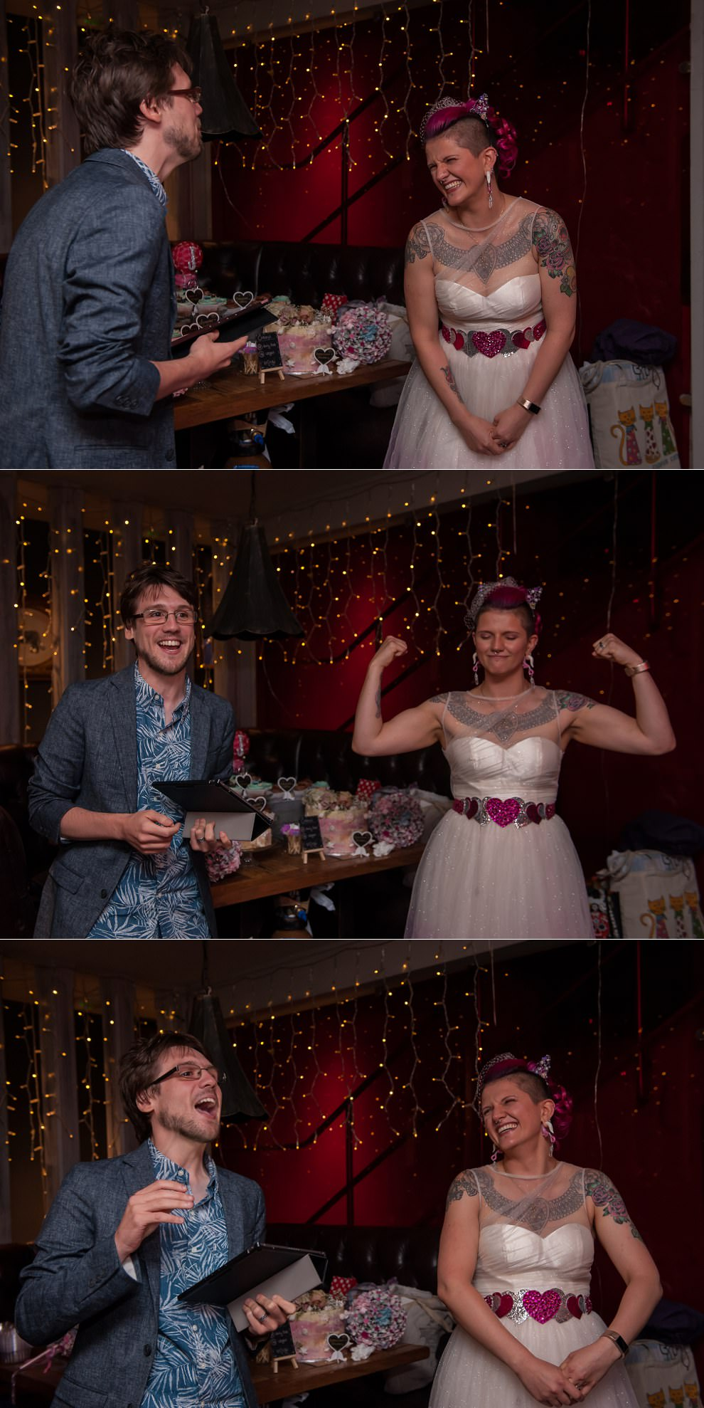 Fun speeches at Dukes Head Putney Wedding | Wedding Photographer London