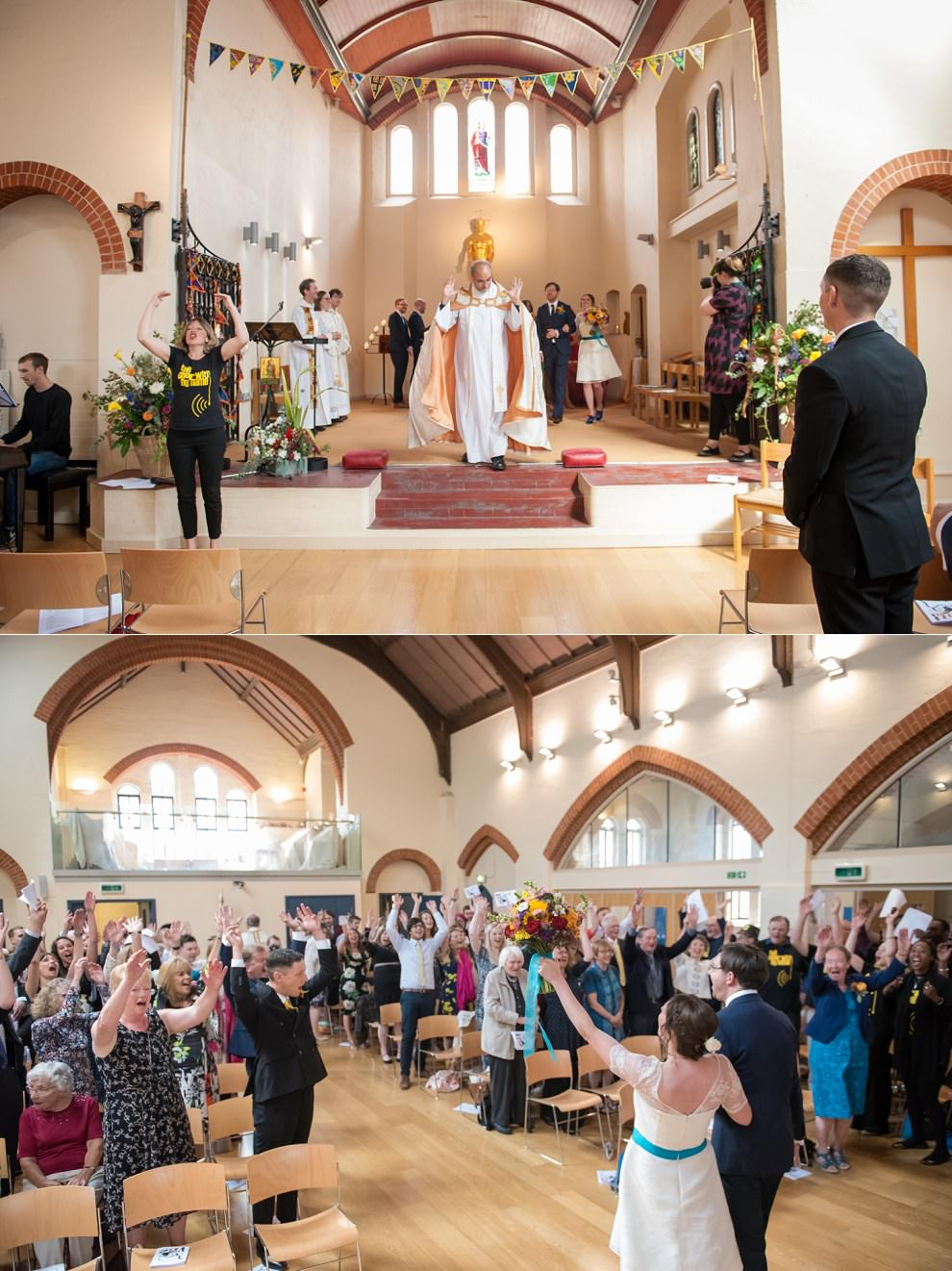 Wedding exit |  South East England wedding photographers
