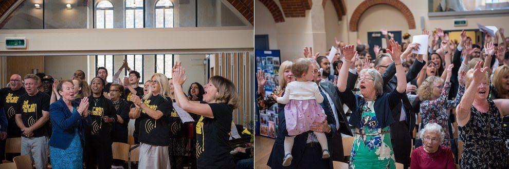 Choir at wedding | award-winning UK wedding photographers