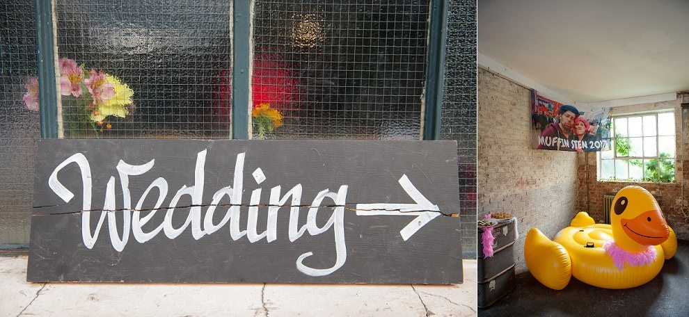 Wedding sign at One Friendly Place wedding