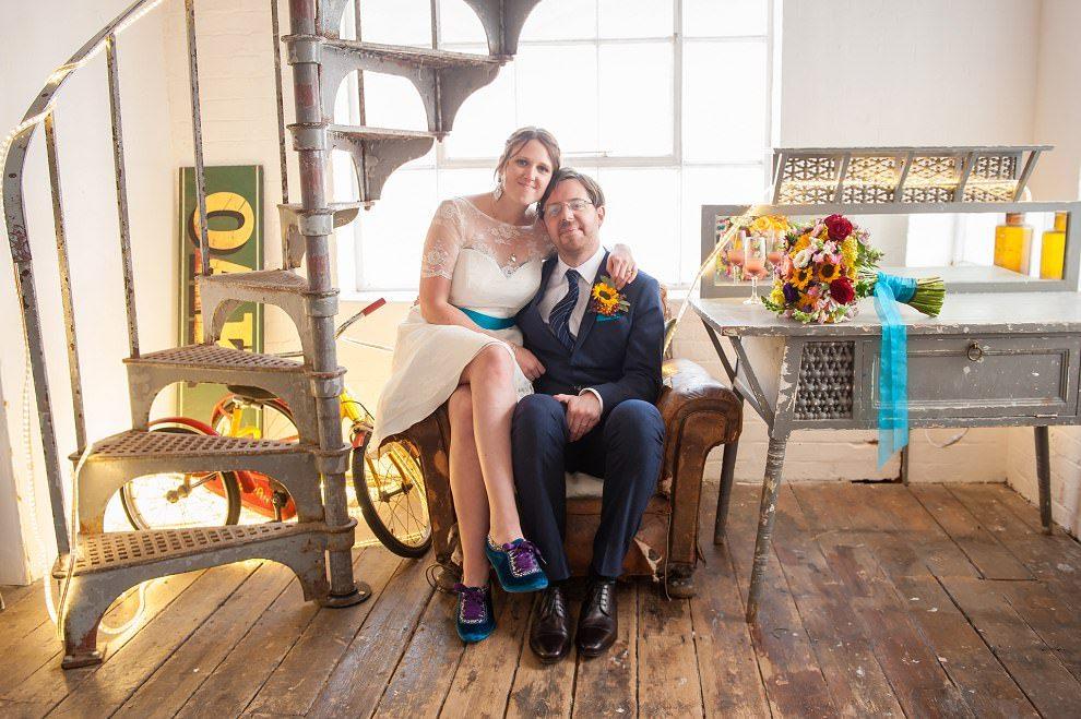Couple photos One Friendly Place wedding |  Alternative wedding photographer
