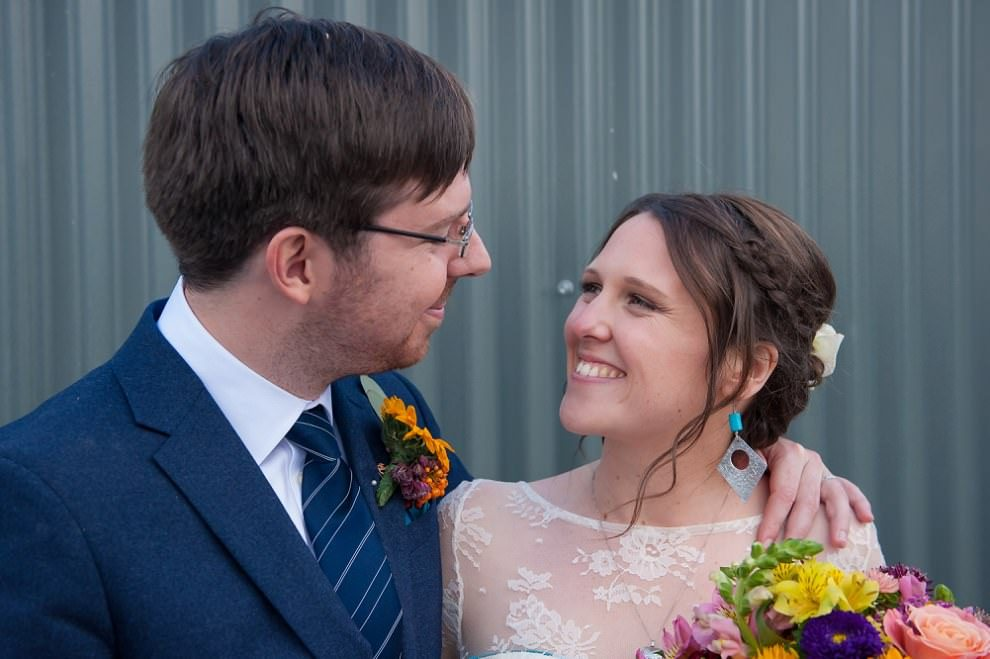 Happy wedding photos at One Friendly Place wedding | London wedding photographers