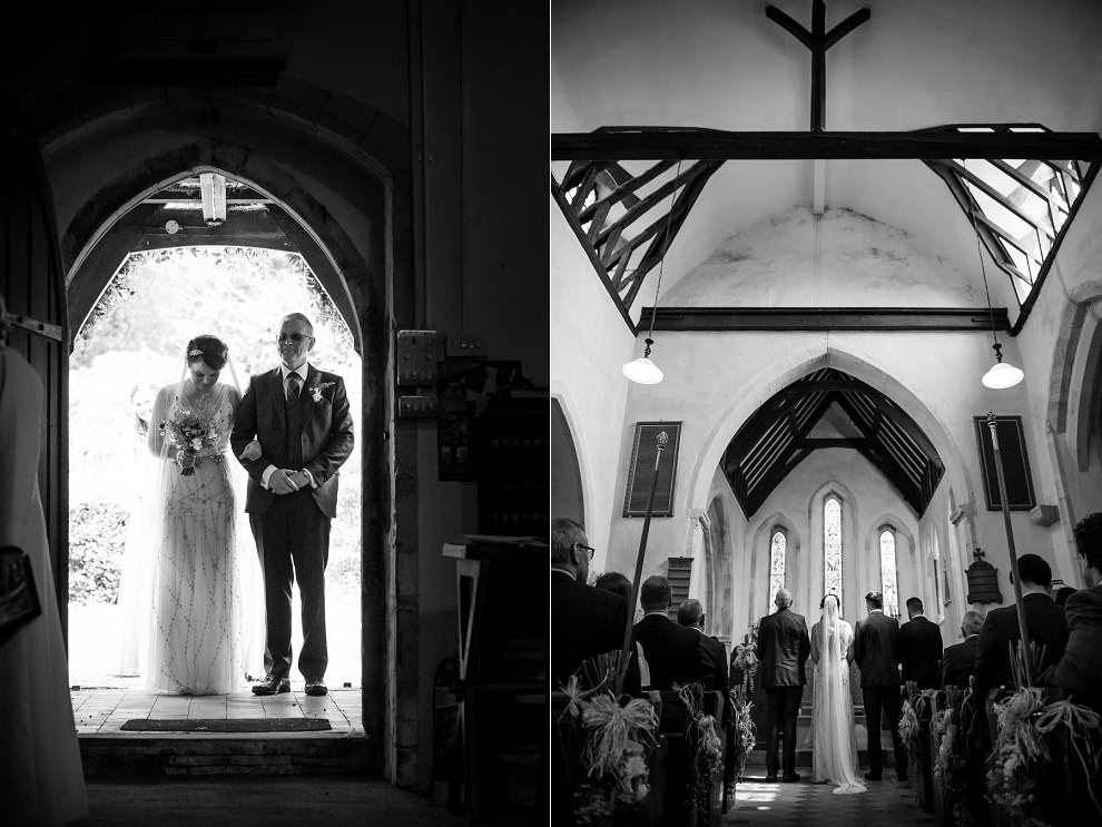 wedding ceremony at St Mildreds Church at Preston Court Kent