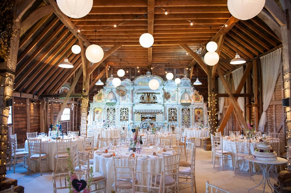Preston Court Wedding | Kent barn wedding decor