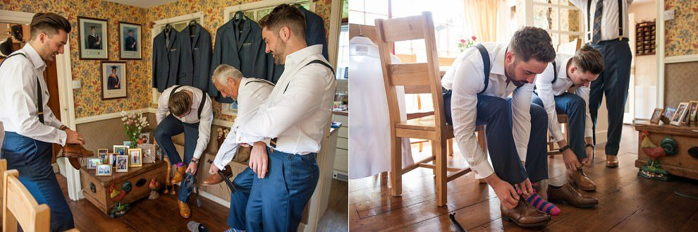 Kent wedding photographer | Groomsmen getting ready photos