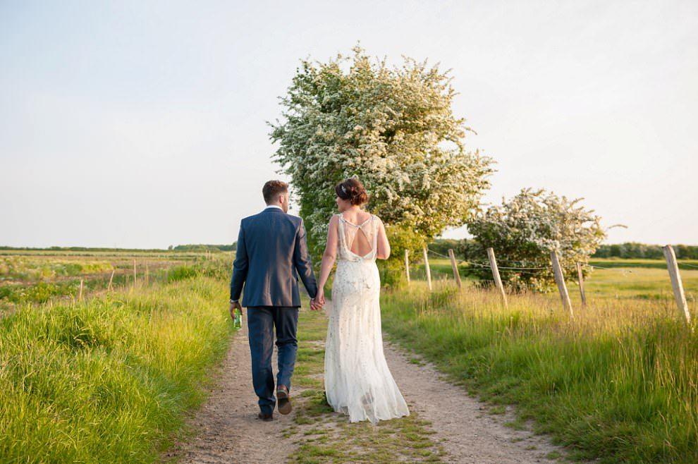 Couple photos at Preston Court in fields