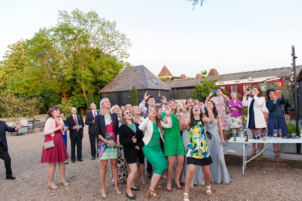 Bouquet toss | Preston Court fun photos
