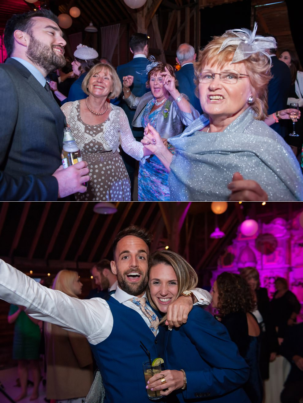 London wedding photographer | Fun dancing at Preston Court