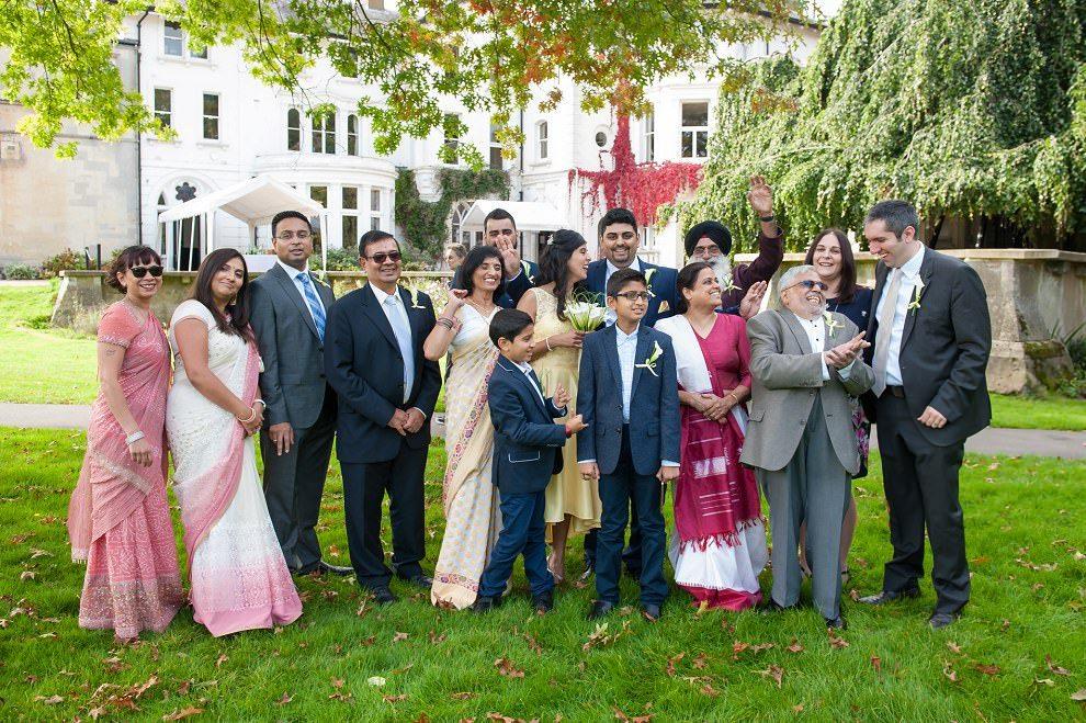 Fun family photos at Stephens House wedding