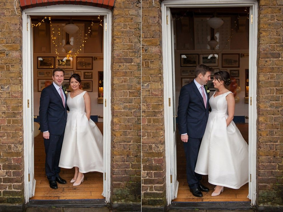 Couple photos London rowing club | Wedding photographers London