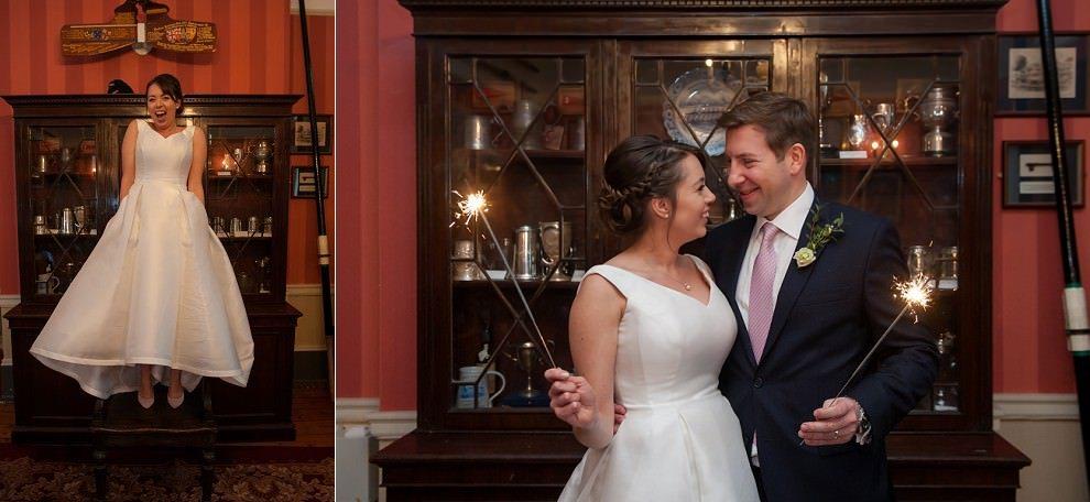 sparklers at london wedding